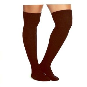 Sexy (yet cozy!) black thigh high fuzzy socks!